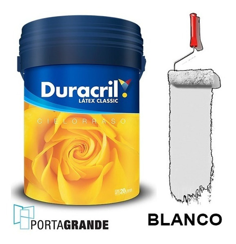 Pintura Látex Classic Cielorraso Duracril 20 Lts