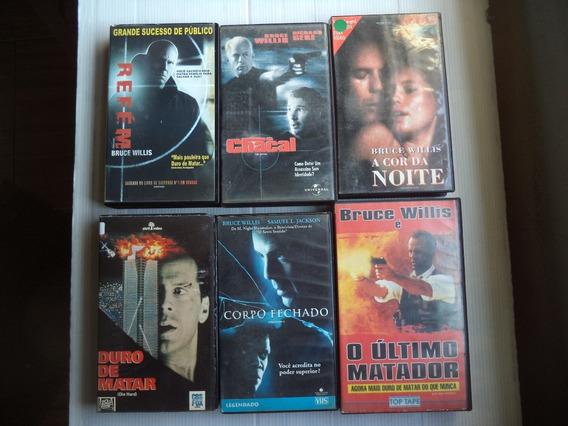 Lote Filmes Vhs Seleção Bruce Willis -com 6 Fitas Cassete