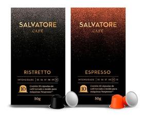 Kit 140 Cápsulas Ristretto E Espresso Compatíveis Nespresso