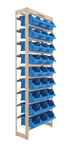 Kit Estante Gaveteiro Organizador 27 Gavetas Nº5 Azul