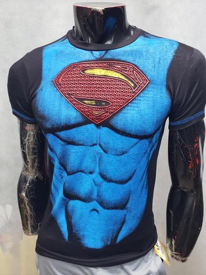 Playera Super Man Dc Comics Liga Justicia