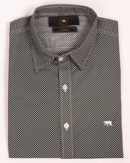 Camisa De Hombre Slim Fit Lunares Orso Bianco Xl Y Xxl