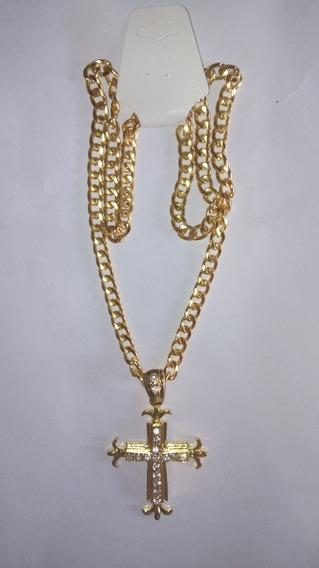 Cordao Dourado Com Crucifixo, Cod. 00080