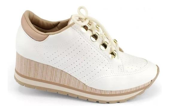 Tênis Feminino Dakota Flatform Branco E Noz 100% Original
