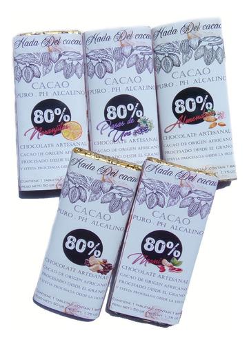 Imagen 1 de 9 de Combo X10 Chocolates 80% A Eleccion S/azucar+ 1/2 Kg Cacao