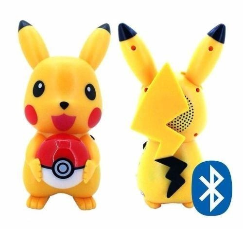 Caixa Som Led Bluetooth Pokemon Pikachu Mp3 Rádio Fm Sd Usb