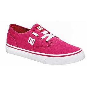 Tenis Dc Shoes Casual Flash Skate Dama Tex Fucsia 84937 Dtt