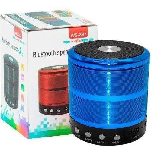 Mini Caixinha De Som Speaker Ws 887 Bluetooth