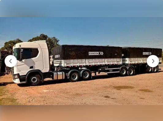 Scania R450 6x2 C/ Bi-trem Randon Ano 2019 - Pouco Usada