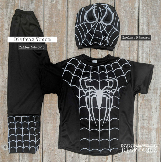 Dia Del Niño! Disfraz Infantil Venom Spiderman Negro