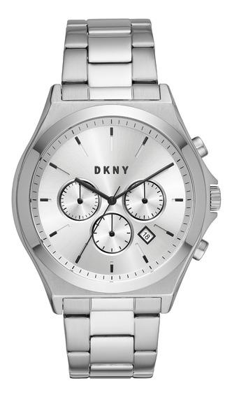 Reloj Caballero Dkny Ny1602 Color Plata De Acero