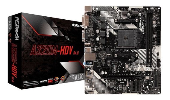Mother Asrock A320m-hdv R4.0 Am4 Ddr4 12cts