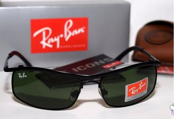 Rayban Aviador Demolidor Rb3339 Verde Masculino Cristal Novo