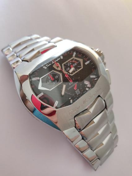 Relógio Lamborghini Prata, Cronógrafo Preto!