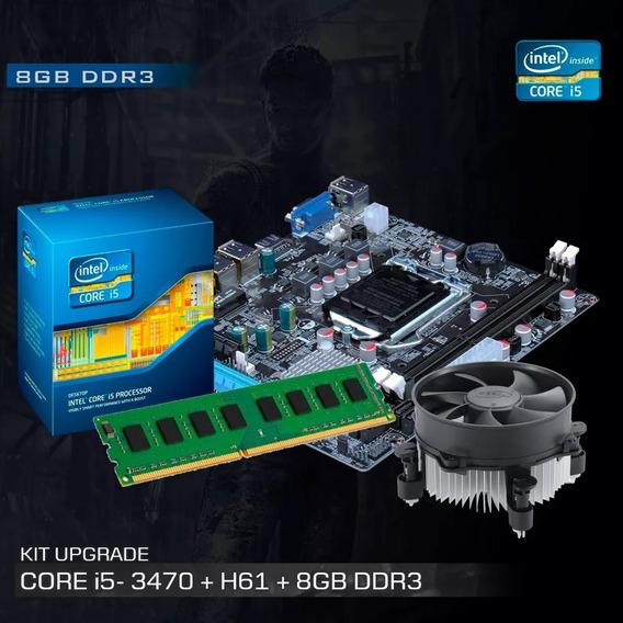 Kit Processador I5 3470 + Placa H61 +8gb Frete Gratis 2x4gb