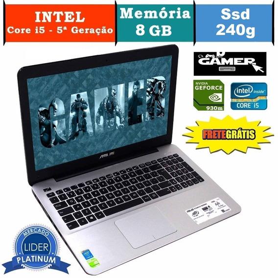 Notebook Asus X555l I5 8gb Ssd 240gb Nvidea Geforce 930m Gamer Promoção Promoção