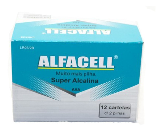 Caixa Pilhas Aaa Super Alcalinas Alfacel C/240 Atacado
