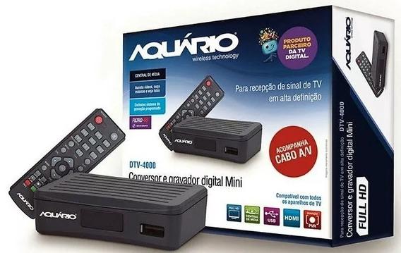 Conversor Digital Dtv 4000s Aquario Para Tv