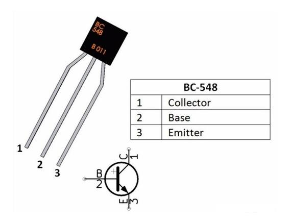 20 Peças Transistor Npn Bc548 Transistores Bc548 Arduino Pic