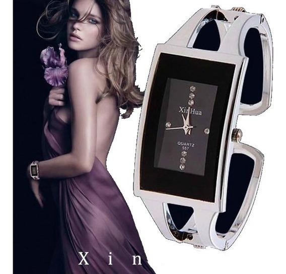 Relógio Feminino Bracelete Retangular Xinhua Promoção Barato