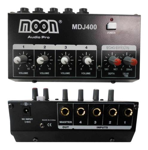 Consola 4 Entradas Mini Mixer Micrófonos Y Linea