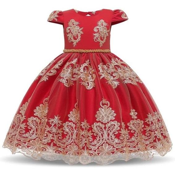 Hermoso Vestido De Fiesta Elegante 5/6 Años Niña Encaje