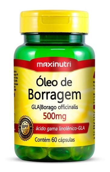 Óleo De Borragem 500mg Maxinutri 60 Cápsulas - Alívio Tpm