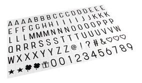96 Letras De Plástico Alfabeto Com Número Para Light Box A4
