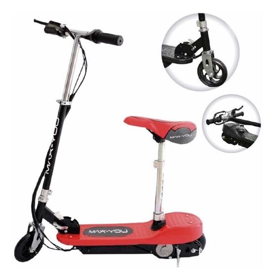 Monopatin Eléctrico Scooter Con Asiento Plegable Kids X1