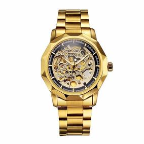 Relógios Masculinos Luxo Inox Automatico Winner + Caixa
