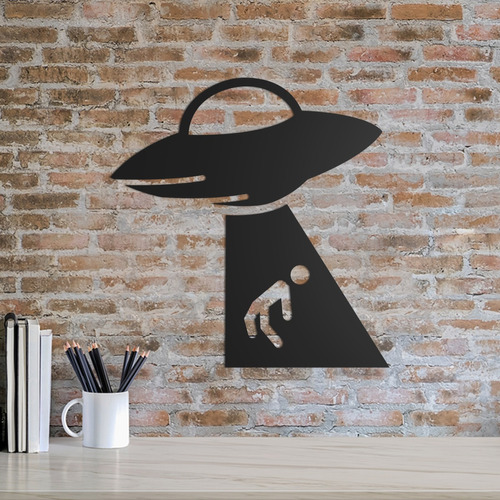 Quadro Decorativo Parede Astronomia Abdução 30cm