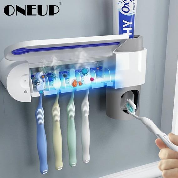 Dispensador Automático D/pasta Dental Y Porta Cepillo Dental