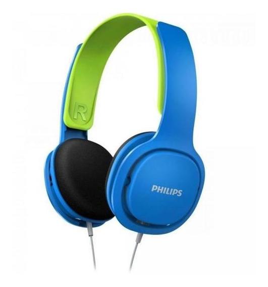 Fone De Ouvido Kids Hk2000bl/00 Azul/verde Philips