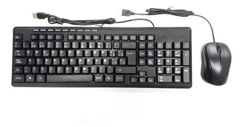Imagen 1 de 3 de Combo Teclado Mas Mouse Alámbrico H8810