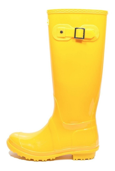 Késttou Galocha Bota Borracha Gloss Amarelo Kt001