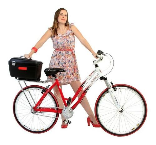 Imagem 1 de 10 de Baú Bauleto Box Bicicleta Bike Kalf 20 Litros Engate Rápido