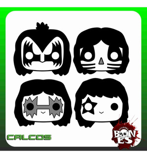 Calco Kiss Toons Funko Vinilo Sticker