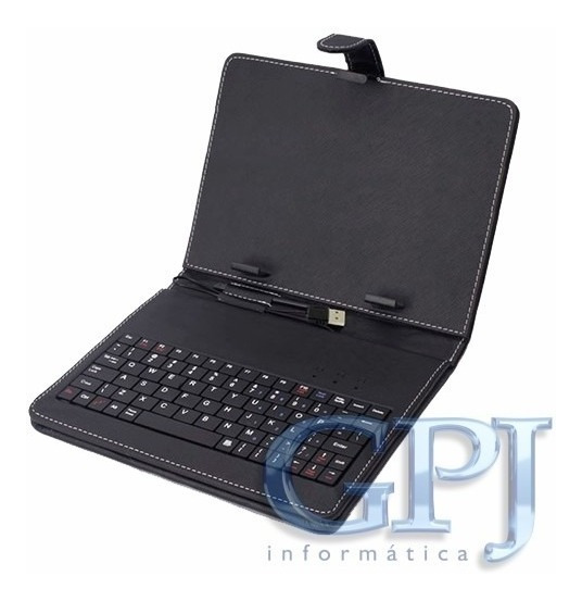 Capa C/ Teclado P/ Tablet 7 Preto (usb)