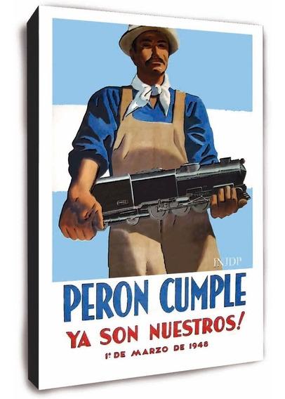 Cuadro De Peron - Afiches Retro Vintage Para Recordar Trenes