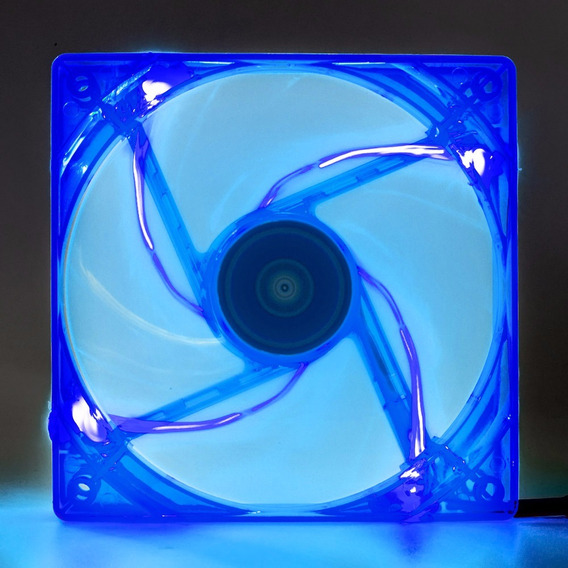 Cooler Fan Pc Gamer 120mm Led Azul Ventoinha Dx-12l