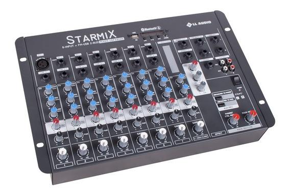 Mesa Som L L Áudio Starmixfx - Usfx802 Bt 8 Canais