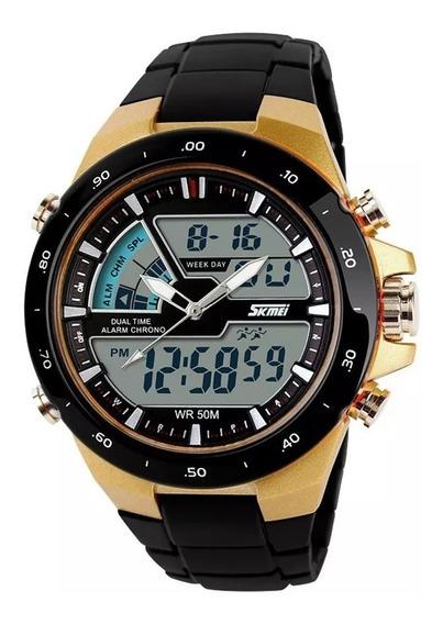 Relógio Masculino Skmei 1016 Esporte Resistente Água Frte Gr