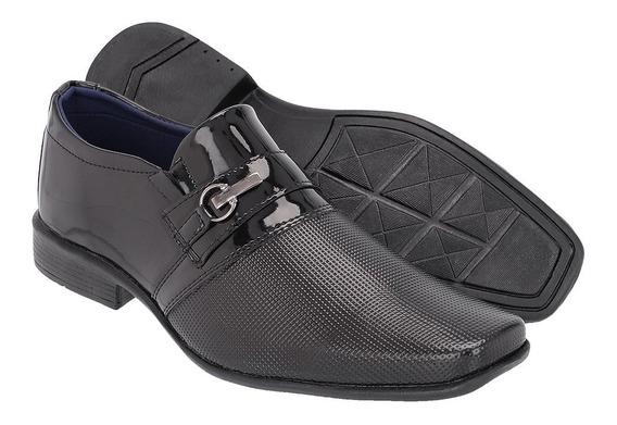 Sapato Social Masculino Em Verniz Ref :836