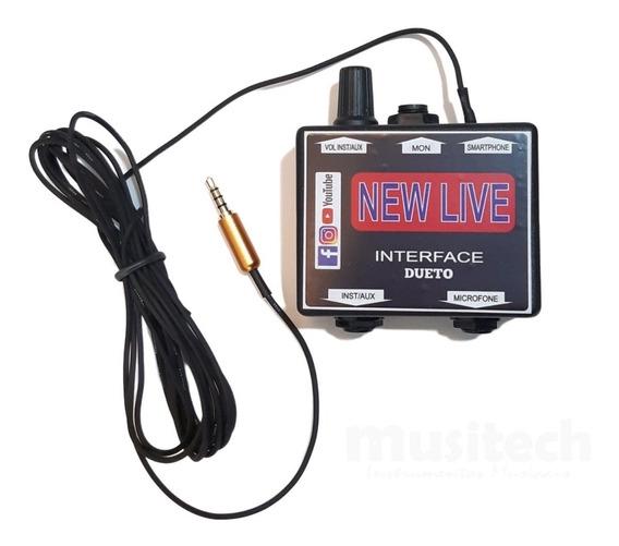 Interface De Áudio New Live Dueto 2 Canais C/ Conector P3