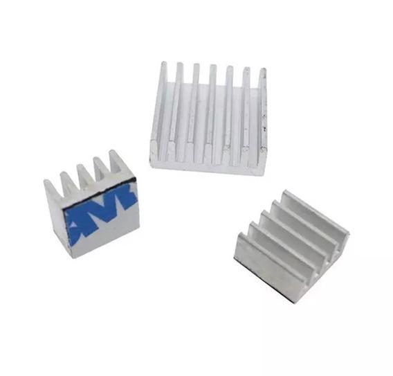 Dissipador Calor Lm2596 Xl6009 Arduino 12x12x5mm Com Adesivo