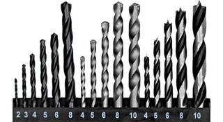 Jogo Broca Com 16 Peças - Para Ferro - Madeira - Concreto