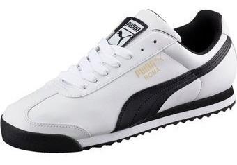 Tenis Puma Roma Basic 353572-04 Blanco Negro