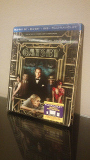 Blu Ray The Great Gatsby 3d -gran (cover Lenticular) Sellado