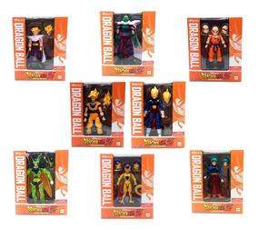 Kit 8 Action Figure Dragon Ball Goku Kuririn C/caixa S229