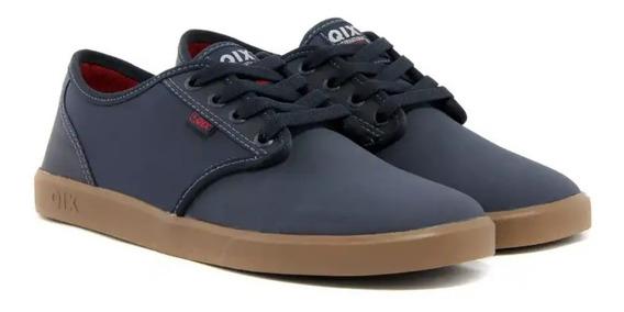 Tenis Qix New Base Marinho/natural Sintético Skate Original